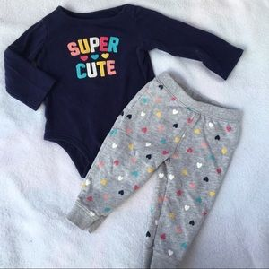 Carter's Baby Girl 12 Month Outfit